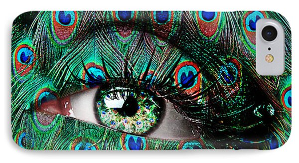 Peacock IPhone Case by Yosi Cupano