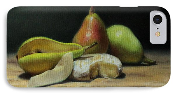 Pears And Cheese IPhone Case by Brianne Kirbyson