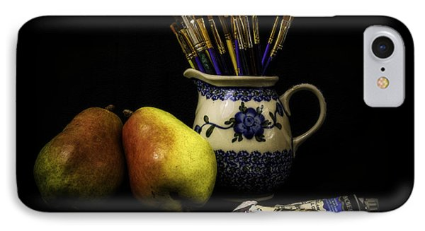Pears And Paints Still Life IPhone 7 Case by Jon Woodhams