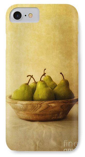 Pears In A Wooden Bowl IPhone 7 Case by Priska Wettstein