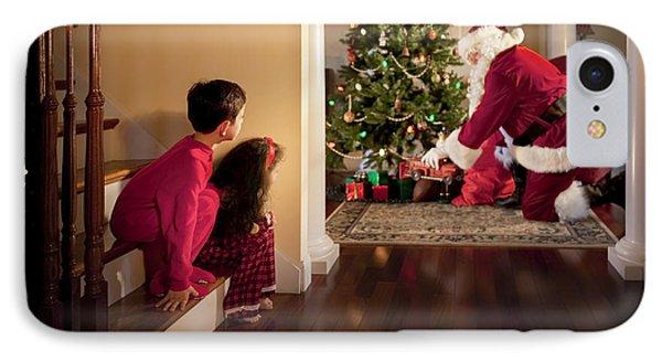 Peeking At Santa Phone Case by Diane Diederich
