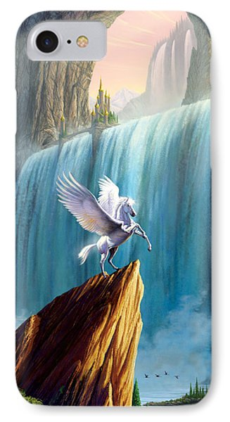 Pegasus Kingdom IPhone Case by Garry Walton