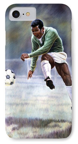 Pele IPhone 7 Case by Gregory Perillo