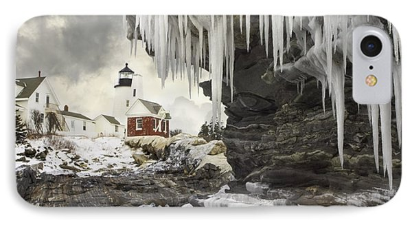 Pemaquid Point Lighthouse On The Maine Coast IPhone Case by Keith Webber Jr