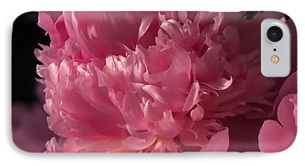 Peony IPhone Case by Rona Black