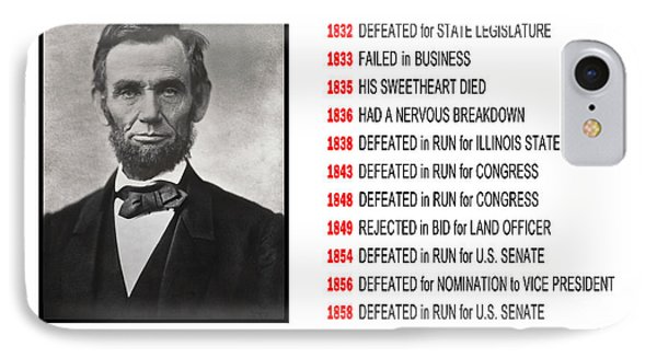 Perseverance Of Abraham Lincoln IPhone Case by Daniel Hagerman