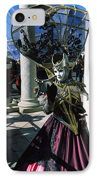 Person In Traditional Costumes IPhone Case by Panoramic Images