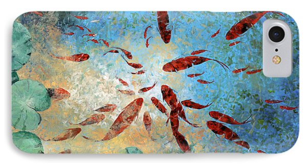 Koi Rotanti IPhone Case by Guido Borelli
