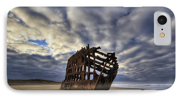 Peter Iredale Shipwreck Sunrise IPhone Case by Mark Kiver