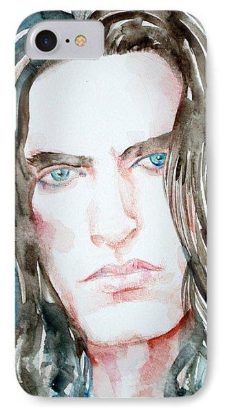Peter Steele Watercolor Portrait Phone Case by Fabrizio Cassetta
