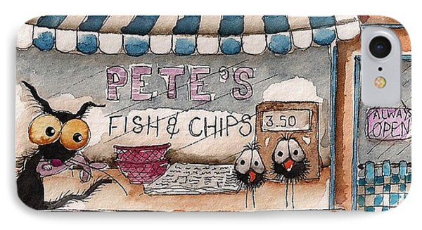 Pete's Fish And Chips IPhone Case by Lucia Stewart