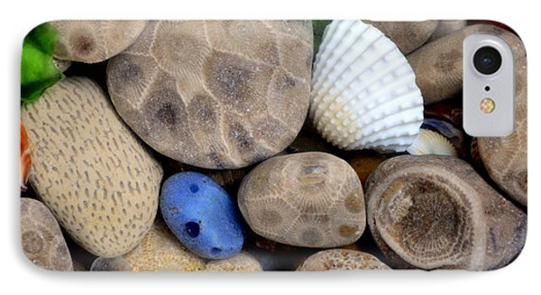 Petoskey Stones V IPhone Case by Michelle Calkins