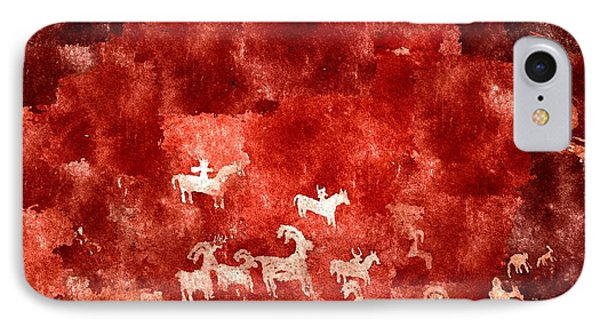 Petroglyphs IPhone Case by Duende Artworks