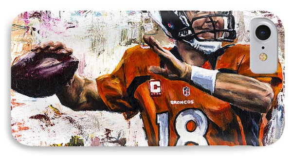 Peyton Manning IPhone Case by Mark Courage