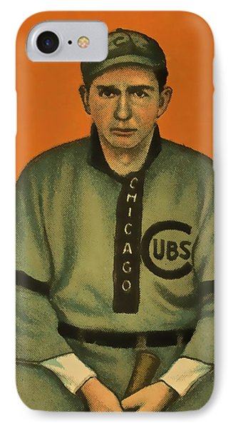 Pfiester Chicago Cubs IPhone Case by David Letts