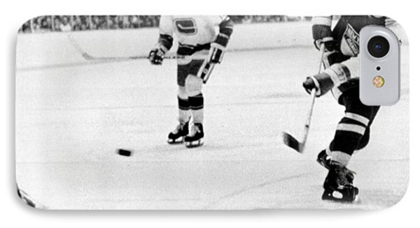 Phil Esposito In Action IPhone Case by Gianfranco Weiss