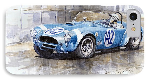 Phil Hill Ac Cobra-ford Targa Florio 1964 IPhone Case by Yuriy Shevchuk