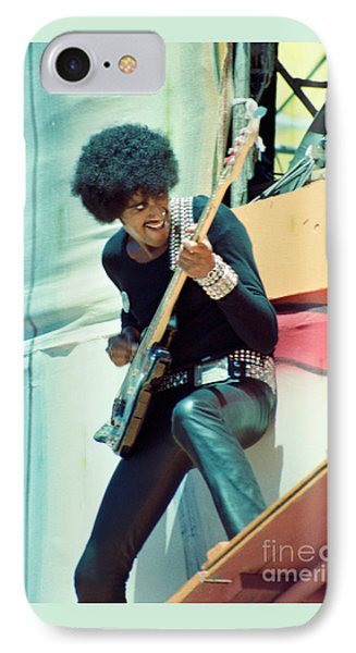 Phil Lynott Of Thin Lizzy - Black Rose Tour Day On The Green 7-4-79  IPhone Case by Daniel Larsen