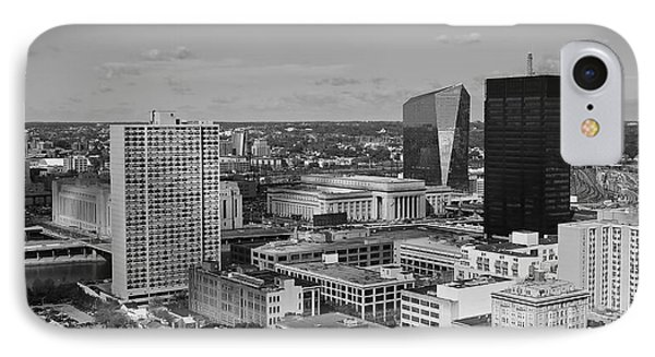 Philadelphia - A View Across The Schuylkill River IPhone Case by Rona Black