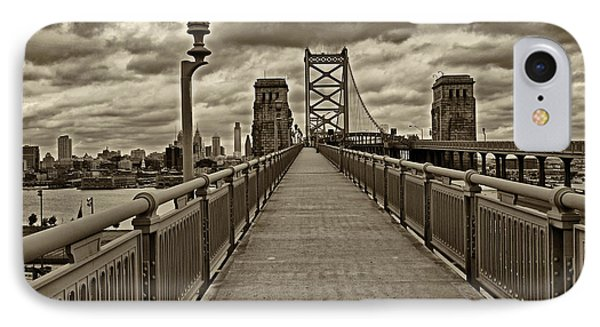 Philadelphia From Ben Franklin Bridge 1 IPhone Case by Jack Paolini