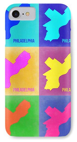 Philadelphia Pop Art Map 3 IPhone Case by Naxart Studio