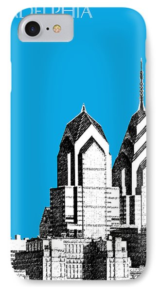 Philadelphia Skyline Liberty Place 1 - Ice Blue IPhone 7 Case by DB Artist