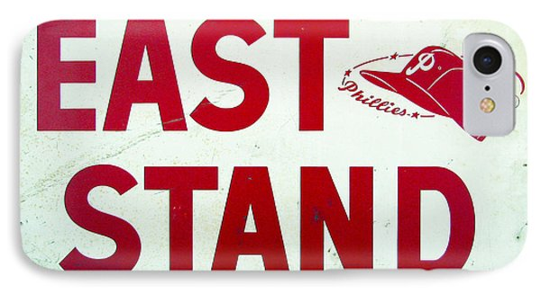 Phillies East Stand Sign - Connie Mack Stadium Phone Case by Bill Cannon