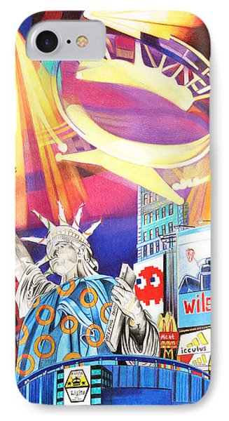Phish New Years In New York Right Panel IPhone Case by Joshua Morton