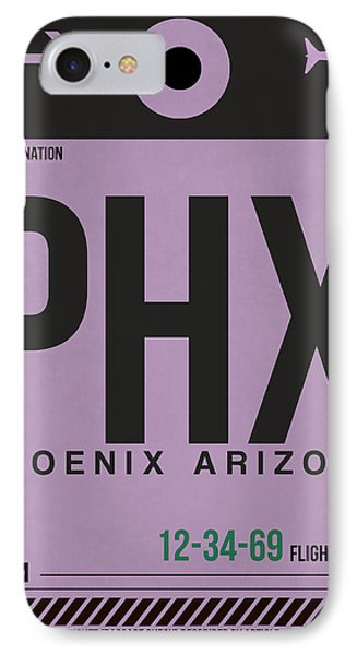 Phoenix Airport Poster 1 IPhone 7 Case by Naxart Studio