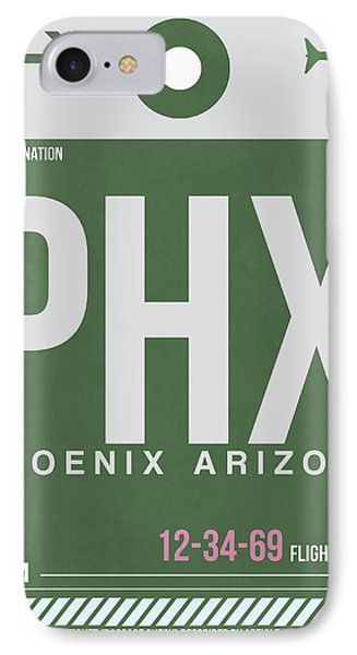 Phoenix Airport Poster 2 IPhone 7 Case by Naxart Studio