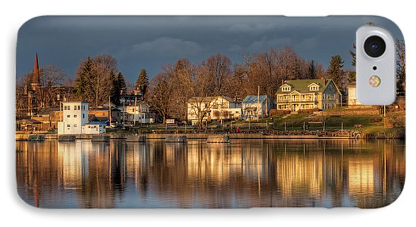 Reflection Of A Village - Phoenix Ny IPhone Case by Everet Regal