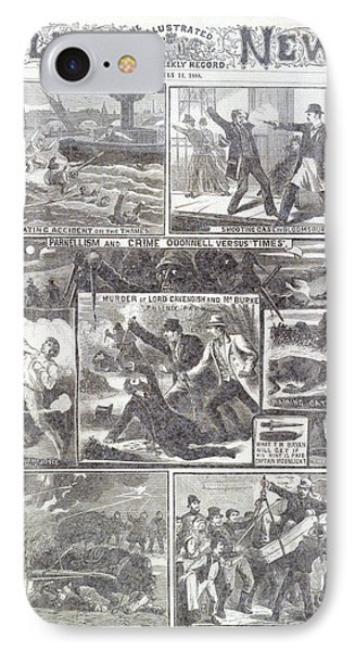 Phoenix Park Murders IPhone Case by British Library