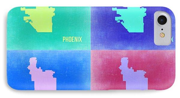 Phoenix Pop Art Map 1 IPhone 7 Case by Naxart Studio