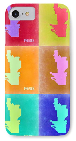 Phoenix Pop Art Map 3 IPhone 7 Case by Naxart Studio