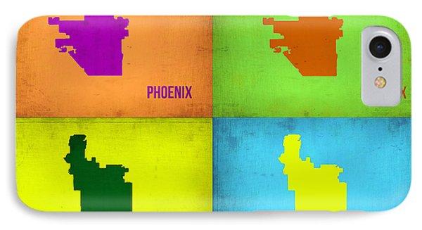 Phoenix Pop Art Map IPhone 7 Case by Naxart Studio