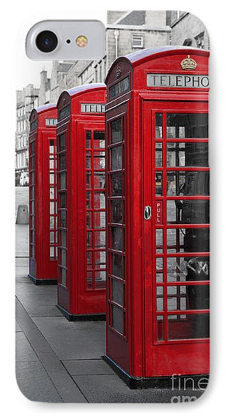 Phone Boxes On The Royal Mile IPhone Case by Jane Rix