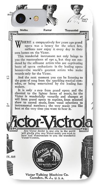 Phonograph Ad, 1912 IPhone Case by Granger