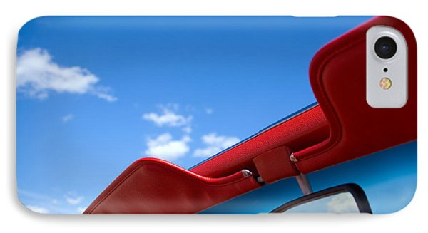 Photo Of Convertible Car And Blue Sky Phone Case by Paul Velgos