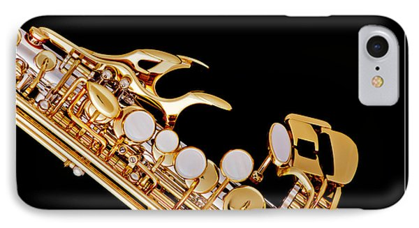 Photograph Of A Soprano Saxophone In Color 3342.02 IPhone Case by M K  Miller
