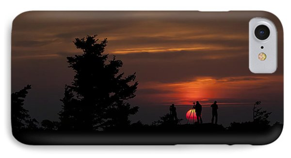 Photographers Shooting Sunrise At Bear Rocks Phone Case by Dan Friend