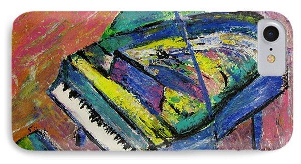 Piano Blue Phone Case by Anita Burgermeister
