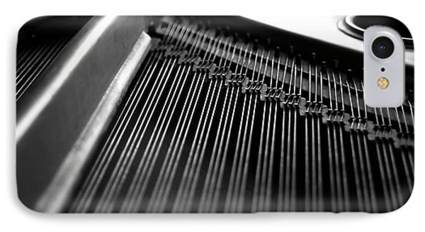 Piano Strings Phone Case by Tim Hester