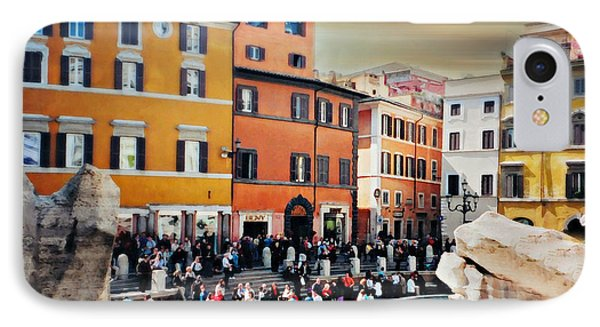 Piazza Di Trevi IPhone Case by Diana Angstadt