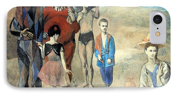 Picasso's Family Of Saltimbanques IPhone Case by Cora Wandel