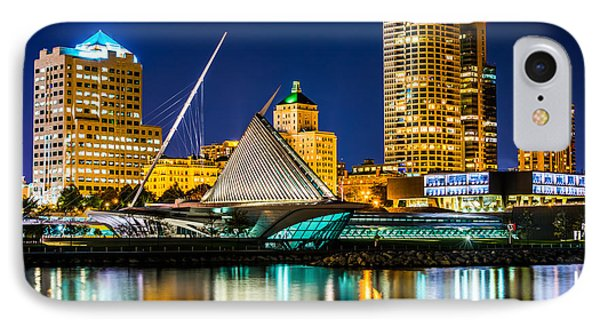 Picture Of Milwaukee Skyline At Night IPhone 7 Case by Paul Velgos