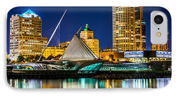 Picture Of Milwaukee Skyline At Night IPhone Case by Paul Velgos