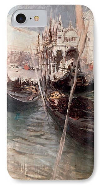 Pier And Saint Marc In Venice IPhone Case by Giovanni Boldini