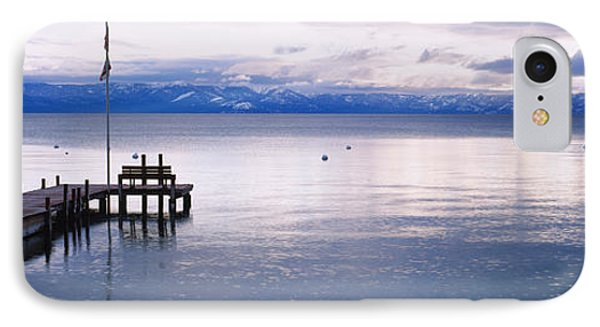 Pier On The Water, Lake Tahoe IPhone Case by Panoramic Images
