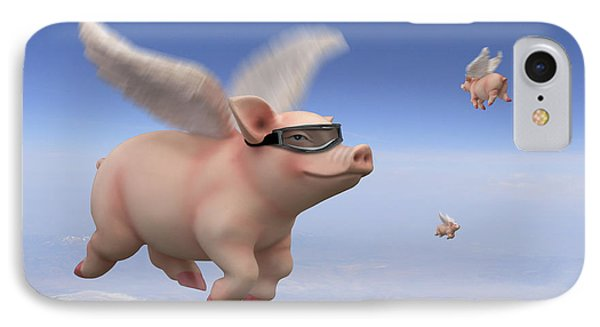 Pigs Fly 1 IPhone Case by Mike McGlothlen