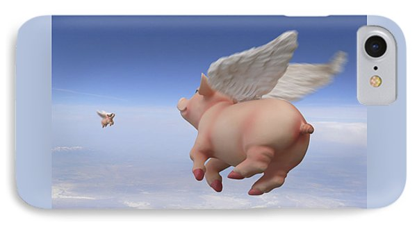 Pigs Fly 2 IPhone Case by Mike McGlothlen